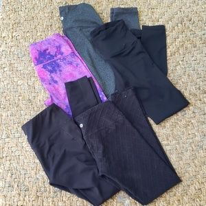 Lot of 5, 90 Degree workout pants, size xs